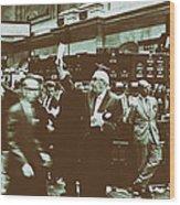 New York Stock Exchange 1963 Wood Print