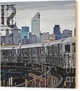 New York Train Wood Print