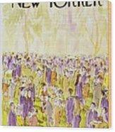 New Yorker June 2nd 1975 Wood Print
