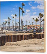 Newport Beach Dory Fishing Fleet Market Wood Print