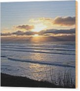 Newport Oregon Sunset Wood Print