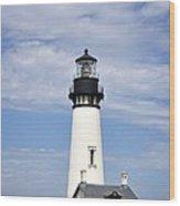Newport Oregon Yaquina Lighthouse Wood Print