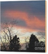 Night Falling Wood Print