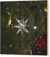 Night View Christmas Tree   1 Of 4 Wood Print