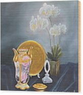 Nippon And Orchids Wood Print