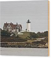 Nobska Lighthouse Wood Print
