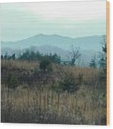 North Ga. Mountains Wood Print