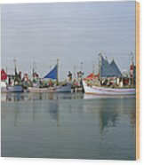 North Sea Fishing Wood Print