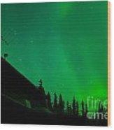 Northern Lights - Aurora Borealis - Substorm Wood Print