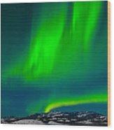 Northern Lights Or Aurora Borealis Wood Print