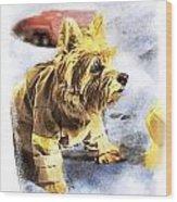 Norwich Terrier Fire Dog Wood Print