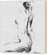 Nude 006 Wood Print