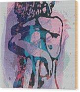 Nude - Pop Art Etching Poster 1 Wood Print