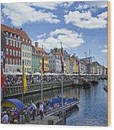 Nyhavn - Copenhagen Denmark Wood Print