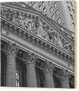 Nyse  New York Stock Exchange Wall Street Wood Print