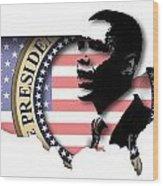 Obama-2 Wood Print
