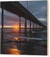 Ocean Beach Pier 1 Wood Print
