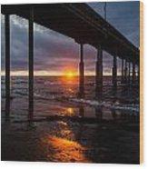 Ocean Beach Pier 2 Wood Print