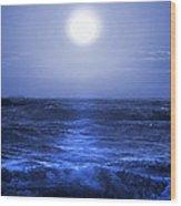 Ocean Blues Wood Print