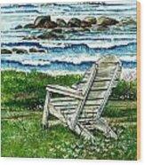 Ocean Chair Wood Print