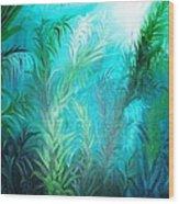 Ocean Plants Wood Print