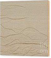 Ocean Sand Art Wood Print