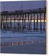 Oceanside Pier Sunset Wood Print