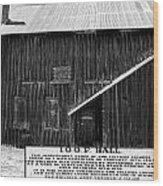 Odd Fellows Historical Building Wood Print