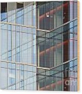Office Building Windows Wood Print