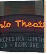 Ohio Theater Marquee Theater Sign Wood Print