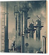 Oil And Gas Power Industry Wood Print
