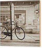 Old Bicycle Parking Wood Print