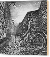 Old Bicycles On A Sunday Morning Wood Print
