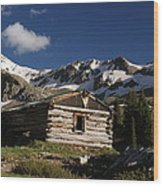 Old Cabin In Rocky Mountains Wood Print