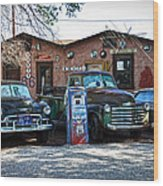 Old Cars On Route 66 Wood Print