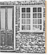 Old Cottage Wood Print
