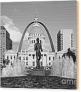Old Courthouse Saint Louis Mo Wood Print