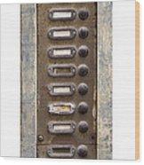 Old Doorbells Wood Print