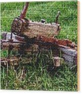 Old Farm Implement H B Wood Print