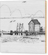 Old Fishermans Wharf Wood Print