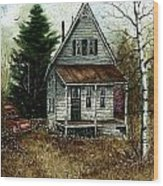 Old Homestead Wood Print