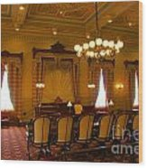 Old House Of Delegates Room Of The Maryland State House Wood Print