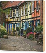 Old Houses At Johannes Kloster Stralsund Wood Print by David Davies