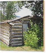 Old Log Homestead Wood Print
