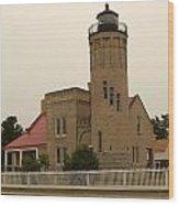 Old Mackinac Point Lighthouse Wood Print