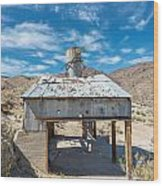Old Mine On Old Toll Road In Death Valley Wood Print