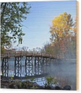 Old North Bridge Concord Wood Print