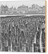Old Piers Wood Print