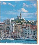 Old Port Of Marseille Wood Print