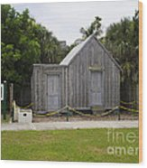 Old Post Office In Melbourne Beach Wood Print